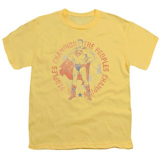Superman/Peoples Champion Short Sleeve Youth 18/1 in Banana