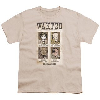 DC/Wanted Poster Short Sleeve Youth 18/1 in Cream