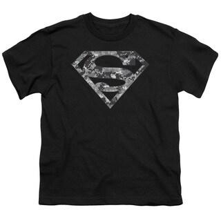 Superman/Urban Camo Shield Short Sleeve Youth 18/1 in Black
