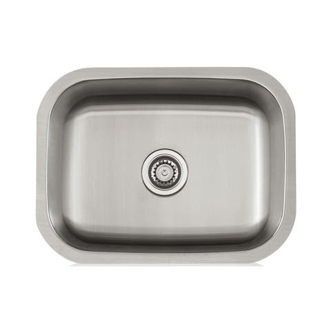 Satin-finished18-gauge Stainless Steel 23-inch x 18-inch Sink