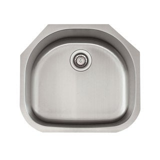 Satin Finish Stainless Steel 23-inch x 21-inch 18-Gauge D-bowl Sink