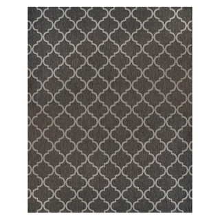 Hastings Machine Gray Polypropylene Woven Rope Rug (7'10 x 10')
