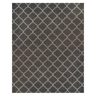 Studio by Brown Jordan Hastings Gray Polypropylene Area Rug - 7'10'' x 10'