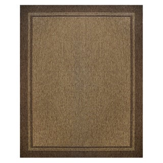 Savannah Chestnut/Havana Machine-woven Polypropylene Rug (7'10 x 10')