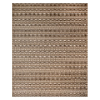Machine Woven Jennings Chestnut/ Black Polypropylene Rug (7'10x10')
