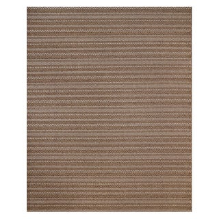 Machine Woven Jennings Chestnut/ Beige Polypropylene Rug (7'10x10')