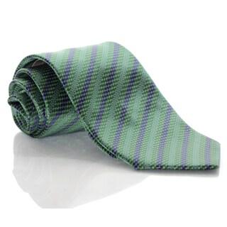 Brioni Silk Zig Zag Diagonal Tie