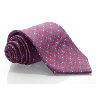 Brioni Silk Brick Pattern Tie