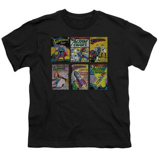 Superman/Sm Covers Short Sleeve Youth 18/1 in Black