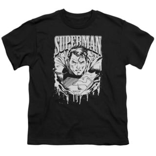 Superman/Super Metal Short Sleeve Youth 18/1 in Black