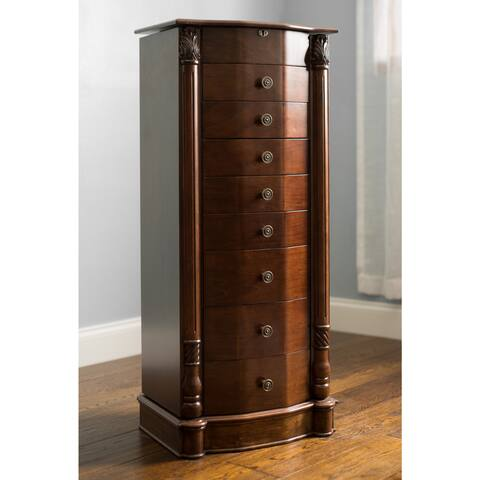 Hives and Honey 'Florence' Walnut-finished Wood Jewelry Armoire