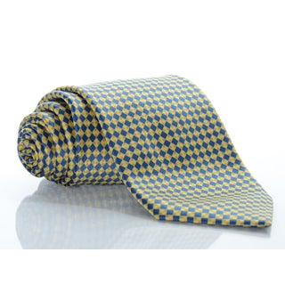 Brioni Silk Checkerboard Tie