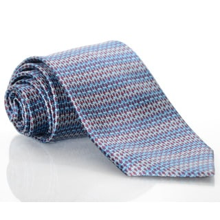 Brioni Silk Stripes and Fish Print Tie