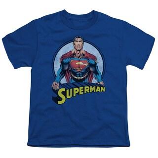 Superman/Flying High Again Short Sleeve Youth 18/1 Royal