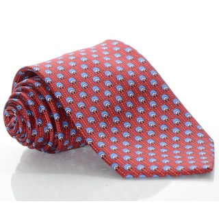 Brioni Silk Red Wheels Tie