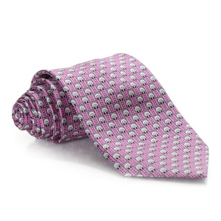 Brioni Silk Pink Wheels Tie
