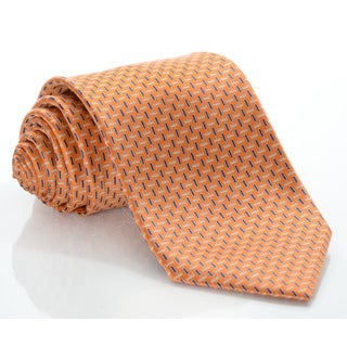Brioni Silk Soft Brick Pattern Tie