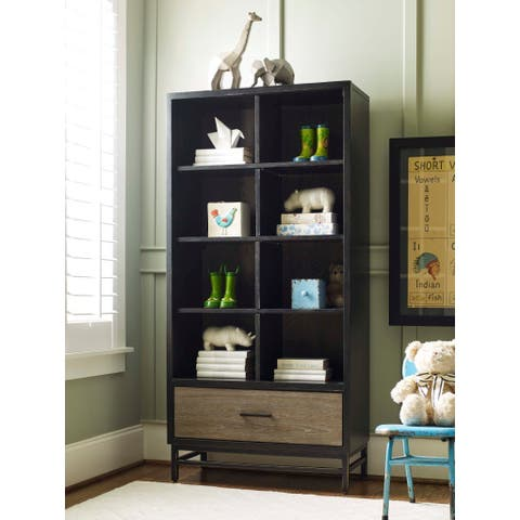 Brown Wood Contemporary Bookcase