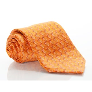 Brioni Silk Orange Large Paisley Tie