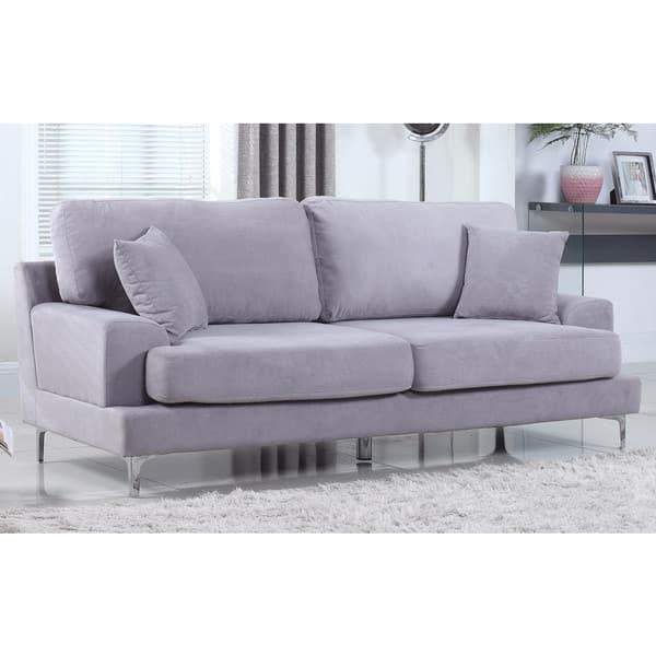 Shop Ultra Modern Plush Velvet Living Room Sofa - Free ...