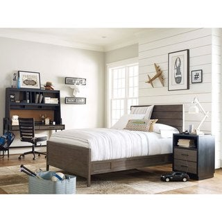 Reading Light Wood Twin-size Panel Bed