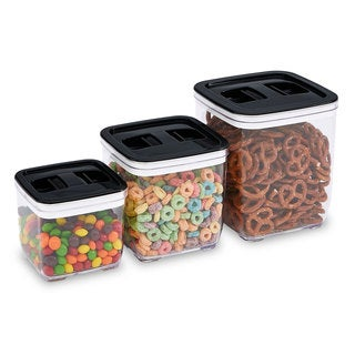 Kitchen Details Plastic Squeeze-lid Airtight Storage Canisters
