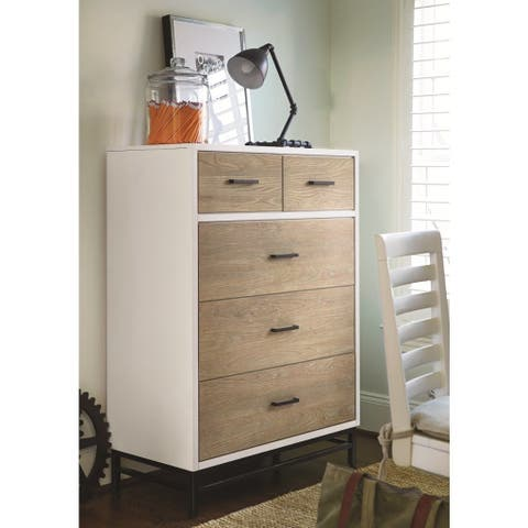 Universal Brown Wood 5-drawer Chest