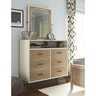 Universal Brown and Grey Elm Wood 6-drawer Dressing Chest