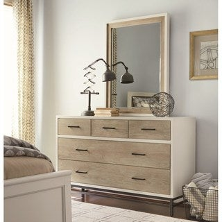 Bronze-finished Wood Contemporary 5-drawer Dresser