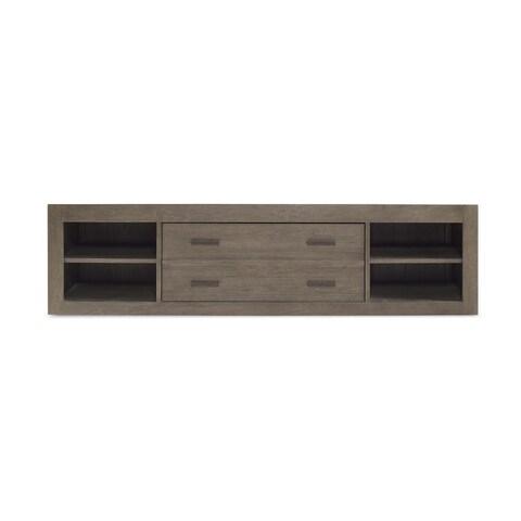Universal Wood Grey Storage Unit with Side Rail Panel