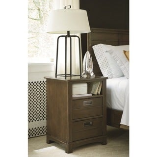 Universal Brown Wood 2-drawer Nightstand