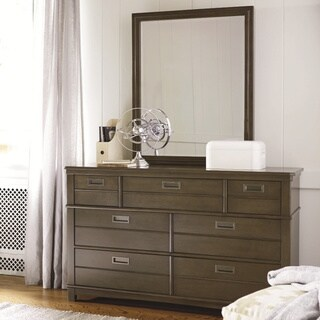 Varsity Grey Wood 6-drawer Dresser