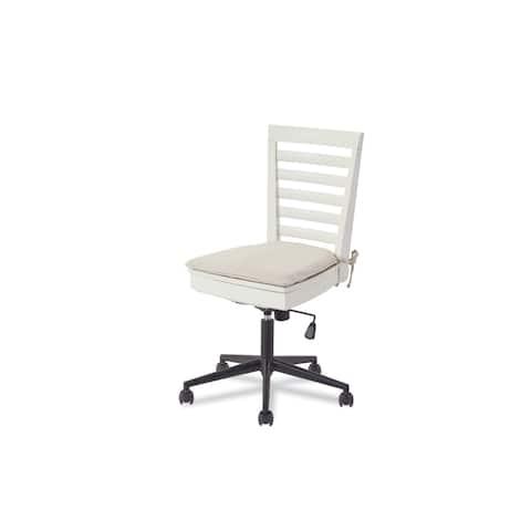 Brown/Grey Wood Desk Chair