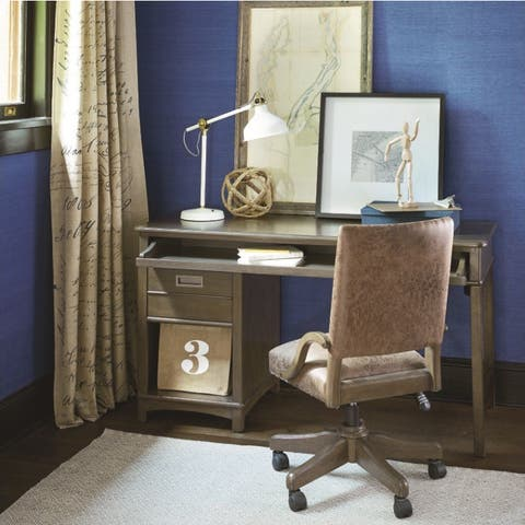 Smartstuff Brown Wood Contemporary Desk Chair