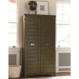 Grey Wood Wardrobe