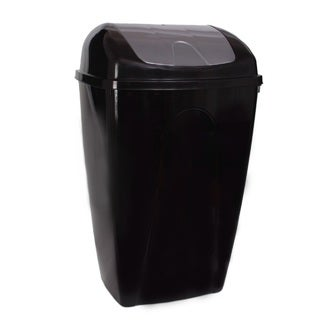YBM Home Black/Grey/Tan Plastic 13-gallon Trash Can