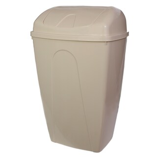 YBM Home Black/Grey/Tan Plastic 13-gallon Trash Can