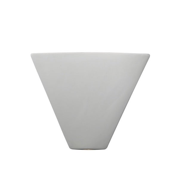 Justice Design Group Ambiance Bisque Trapezoid Corner Wall Sconce