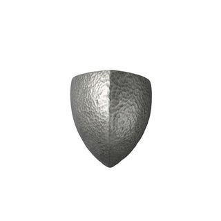 Justice Design Group Ambiance Hammered Pewter Large Abis Wall Sconce