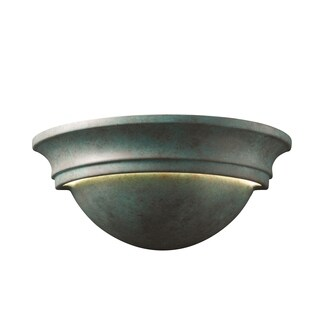 Justice Design Group Ambiance Verde Patina Large Cyma Wall Sconce