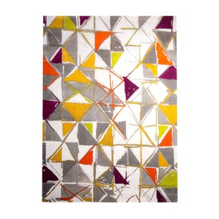 Home Dynamix Tanja Collection Contemporary Ivory/Multicolor Area Rug (5'2 x 7'2)