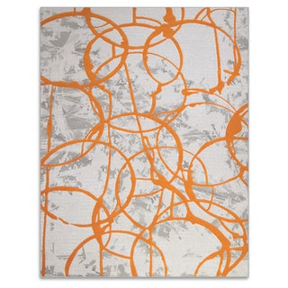 Home Dynamix Tanja Collection Contemporary Ivory/Green/Orange Polypropylene Machine-made Area Rug (7'10 x 10'2)