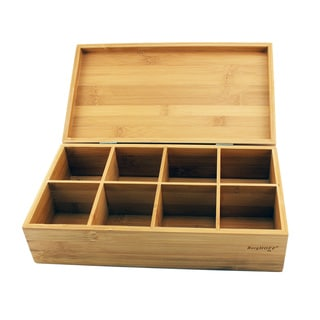 Brown Bamboo Wood Tea Box