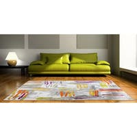 Home Dynamix Tanja Collection Ivory/Multicolor Polypropylene Contemporary Machine-made Area Rug - 7'10 x 10'2