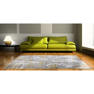 Home Dynamix Tanja Collection Contemporary Ivory/Yellow Polypropylene Area Rug (7'10 x 10'2)