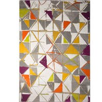 Home Dynamix Tanja Collection Contemporary Multicolored Area Rug - 7'10 x 10'2