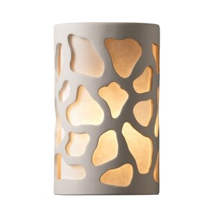 Justice Design Group Ambiance Bisque Outdoor Large Cobblestones Wall Sconce