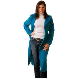 Maxie Black or Aqua Wool and Polyester Trench Coat