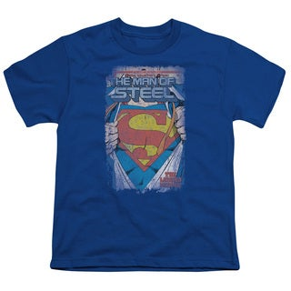 Superman/Legendary Short Sleeve Youth 18/1 in Royal
