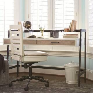 Universal #myRoom Grey/Parchment Elm Veneer Wood Desk https://ak1.ostkcdn.com/images/products/12807331/P19576822.jpg?impolicy=medium